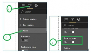 Format Table Data to Show Horizontally in Power BI