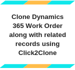 Clone Work Order along with related records using Click2Clone