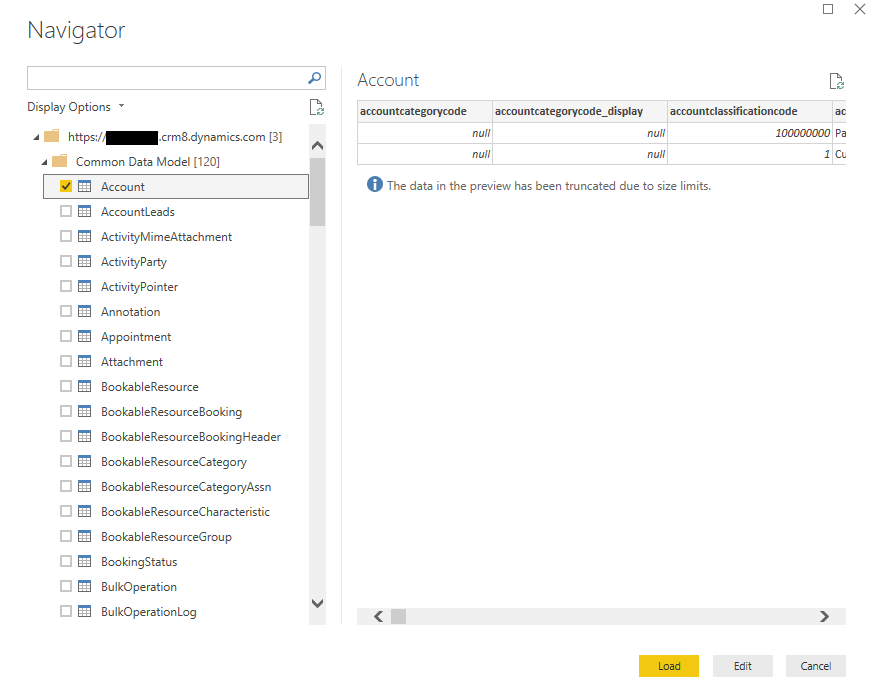 Connect to the Power BI Using Common Data Service (CDS
