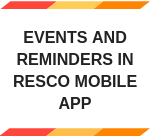Events and Reminders in Resco Mobile App