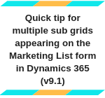Quick tip for multiple sub grids appearing on the Marketing List