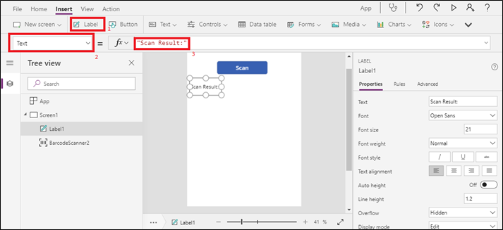 Working with Barcode Scanner in PowerApps   Microsoft