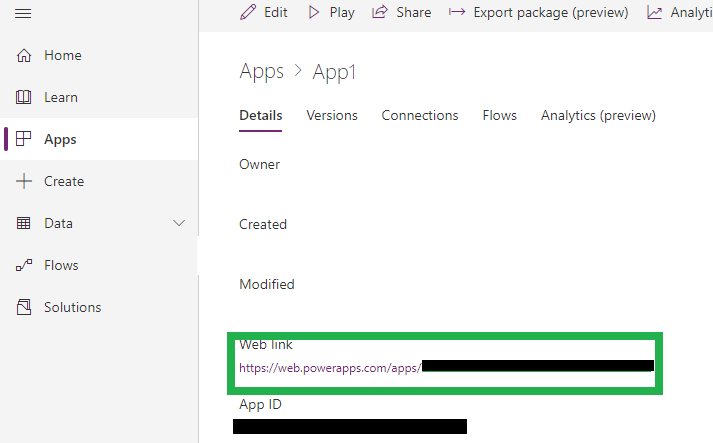 Open PowerApps from inside the Dynamics 365 Customer Engagement