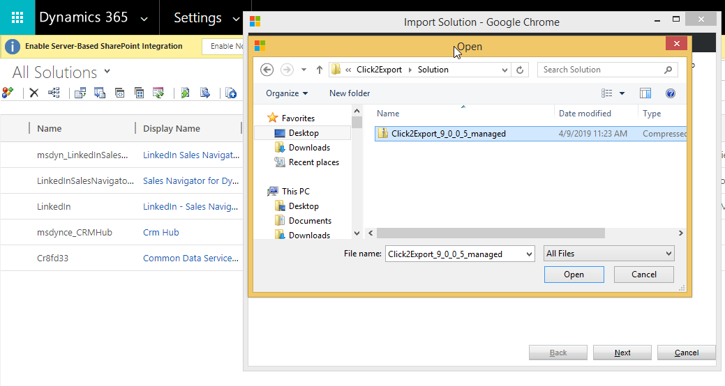 Installing Click2Export in your Environment