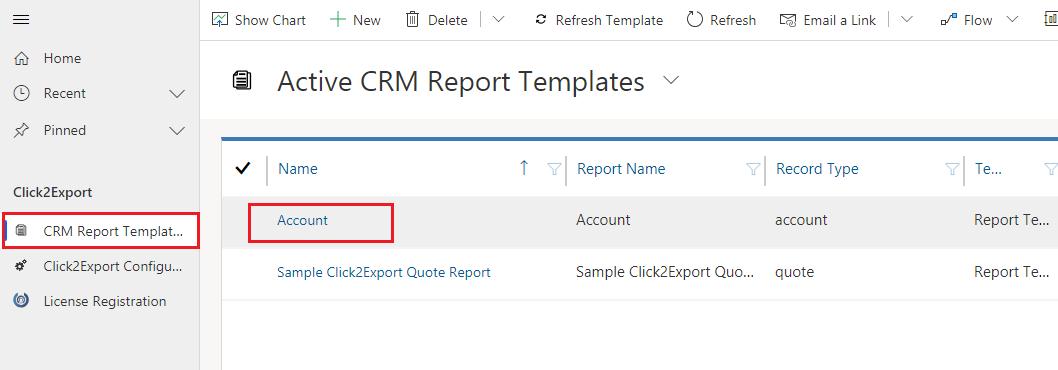 Configuring Click2Export CRM Report Templates