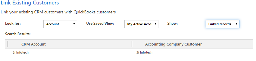 Link your Existing Customers and Products between QuickBooks Online and Dynamics CRM using InoLink