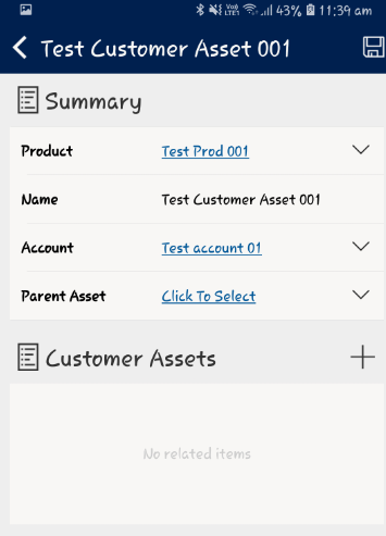 Scan Customer Asset from Field Service Mobile App