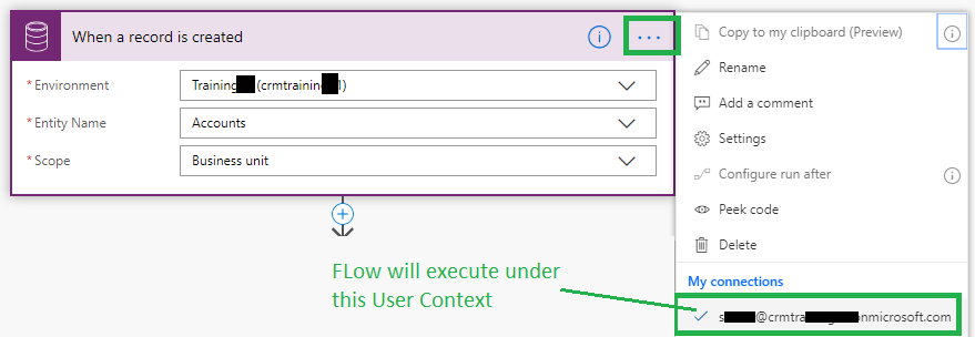 Use Scope with Common Data Service in MS FLOW