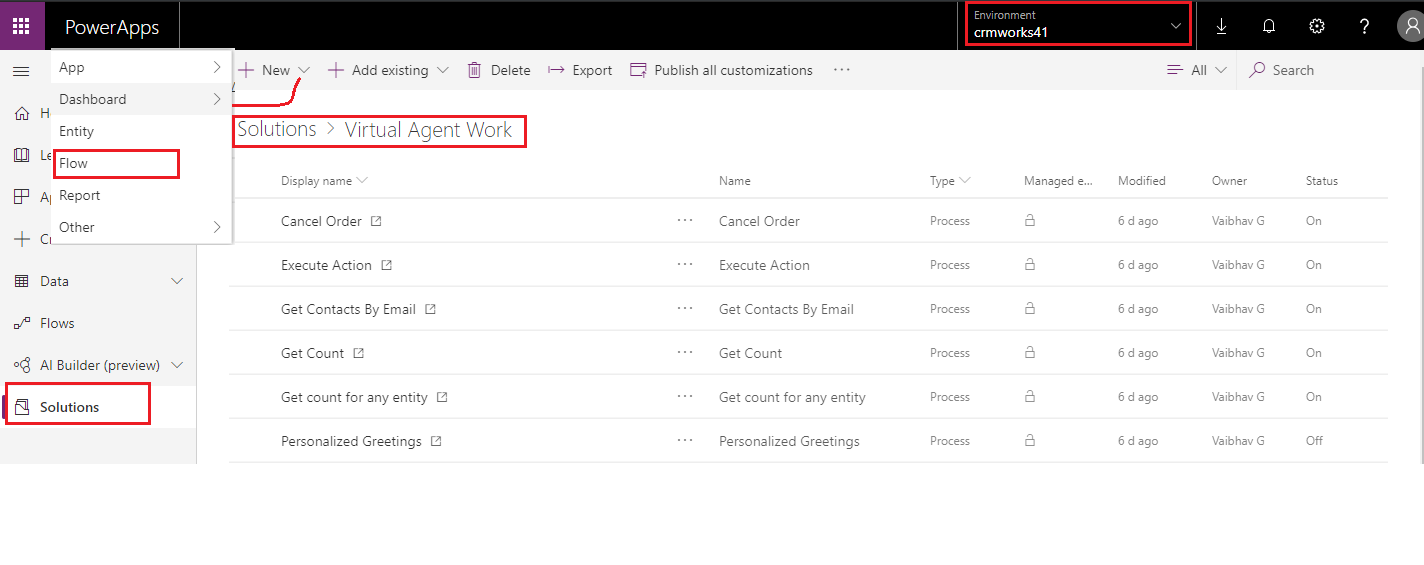 Use Dynamics 365 Virtual Agent Chabot for the CRM users