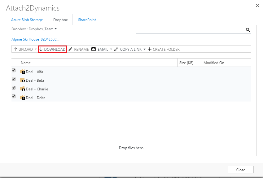 Attach2Dynamics: Drag & Drop and Manage documents on SharePoint