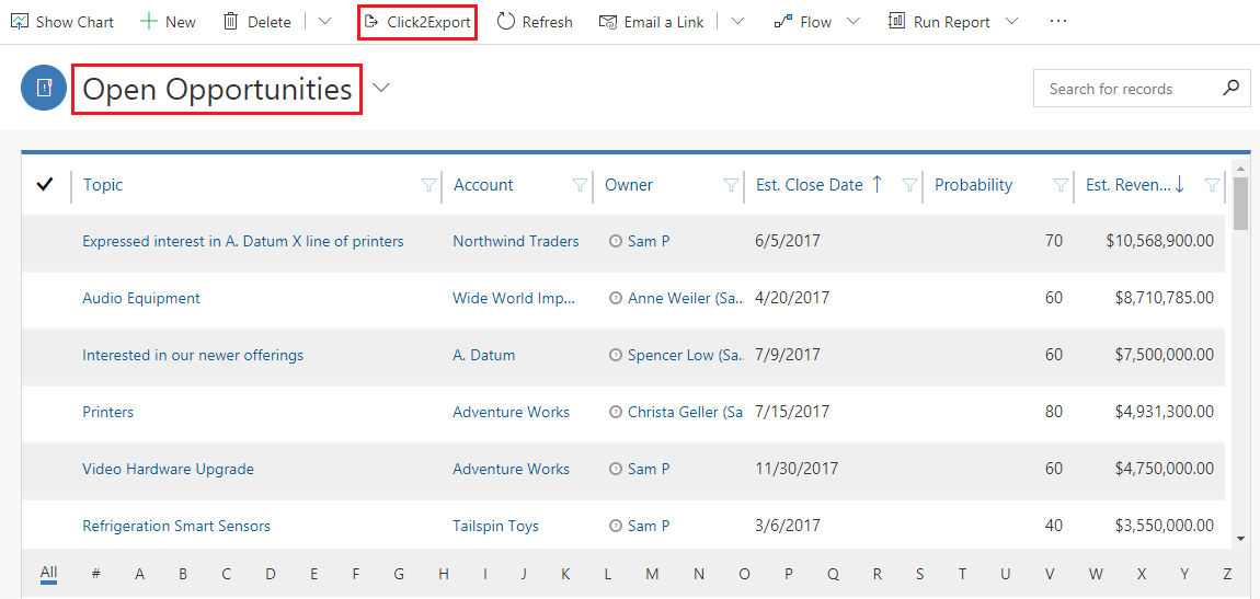 1 Click to Export them All – Report, Word and Excel