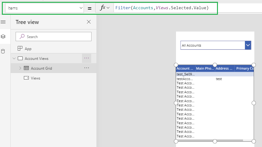 Show Dynamics 365 CRM Views in Canvas Apps Using CDS