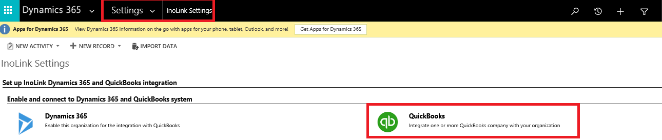 Sync Data from Dynamics 365 CRM to QuickBooks