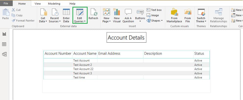 modify Power BI Report Data Source Queries from Advance Editor