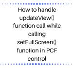 PCF Control