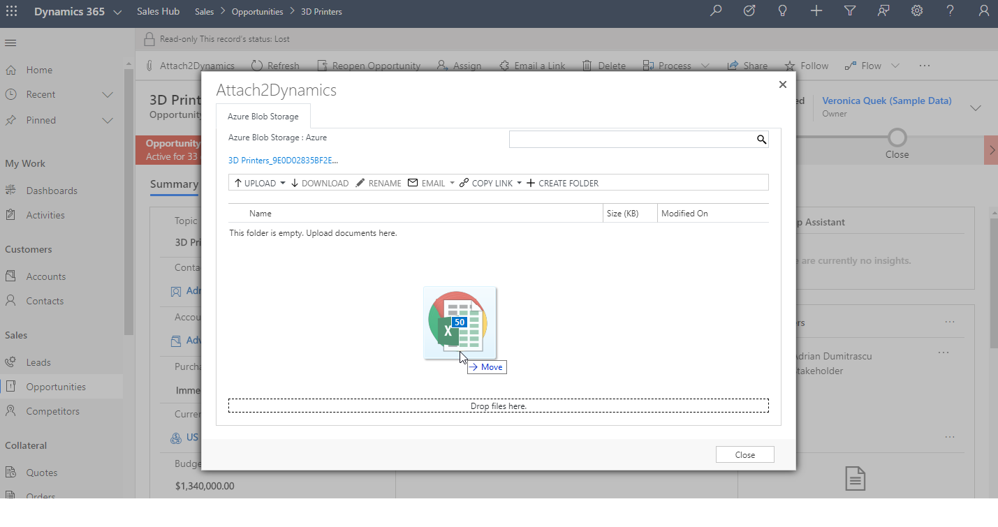 Smart and Secure way to manage your attachments on SharePoint, Dropbox and Azure Blob Storage within Dynamics 365 CRM