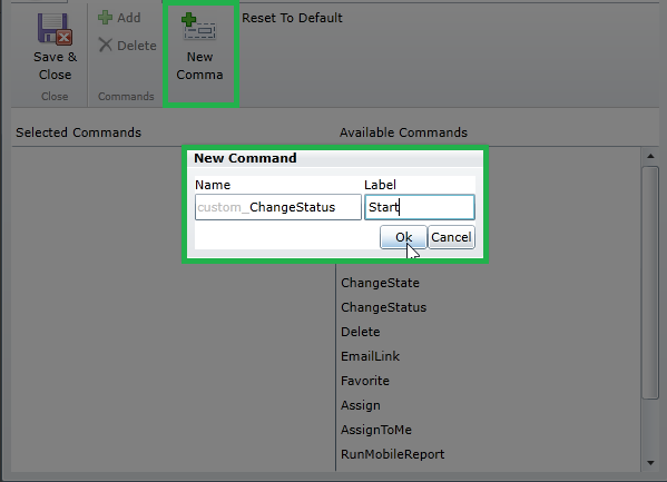 How to Use Custom Commands on Entity Lists in Resco Mobile App