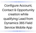 Dynamics 365 CRM Field Service Mobile App