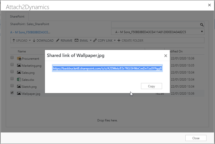 Ability to generate anonymous links to the documents to share the documents outside of your organization