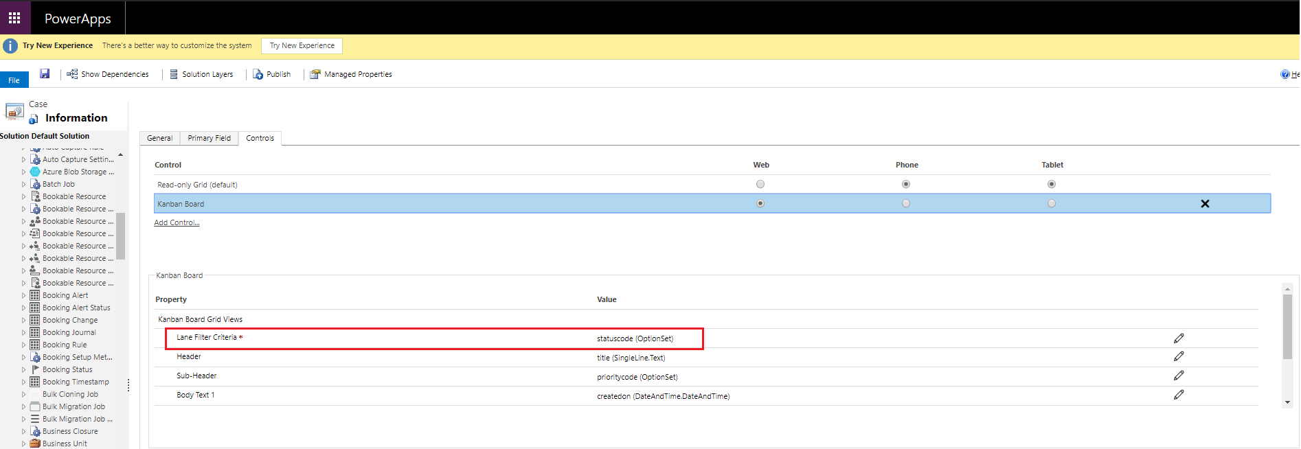 Visualize any CRM View as lanes as in a Kanban View