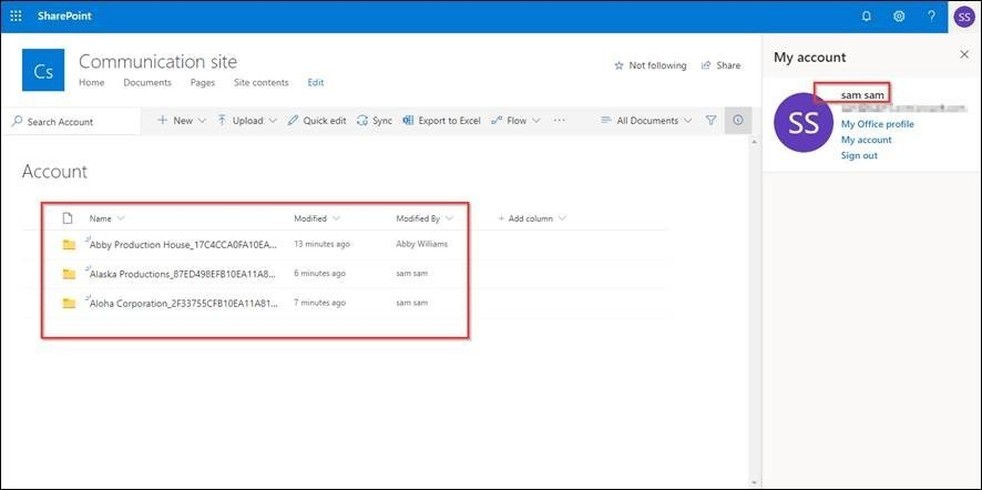 Access to SharePoint Folders controlled by the security roles defined in CRM