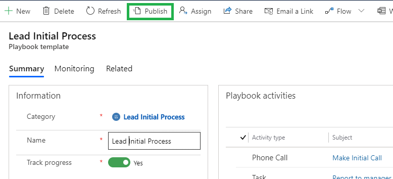 Use Playbooks in Dynamics 365 CE