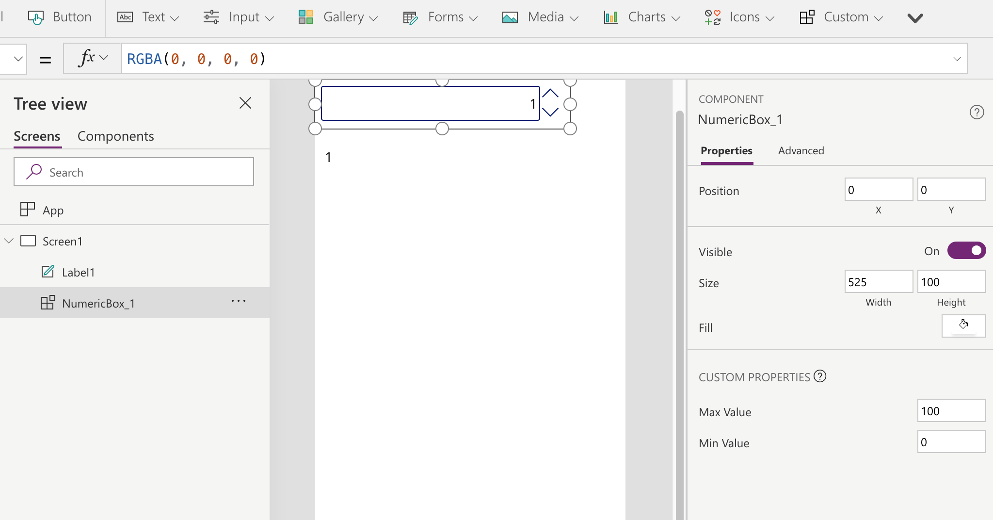 Canvas Components in PowerApps