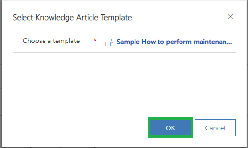 Knowledge Article Templates in Dynamics 365 CS as per 2019 Release Wave 2