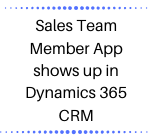 Sales Team Member App shows up in Dynamics 365 CRM