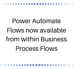 Power Automate Flows now available from within Business Process Flows