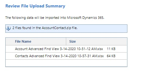 import data in Dynamics 365