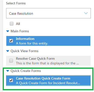 Customize Case Resolution Form