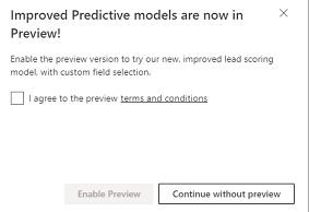Predictive Lead and Opportunity Scoring feature