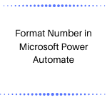 Format Number in Microsoft Power Automate