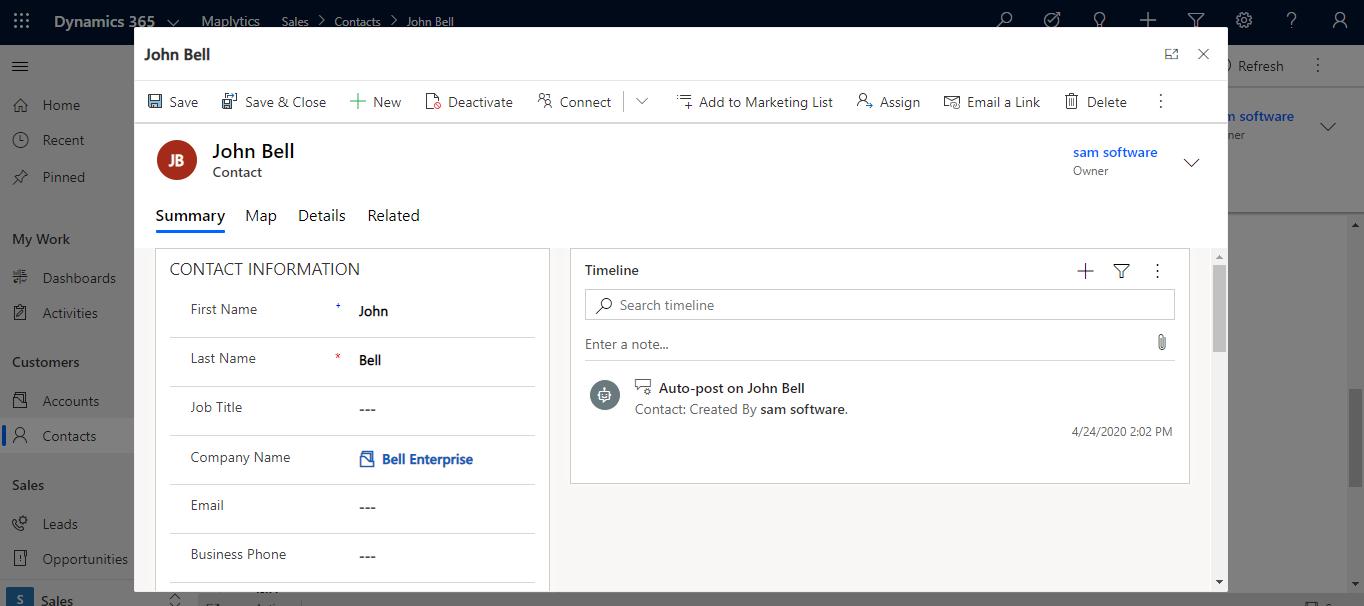 navigateTo Client API