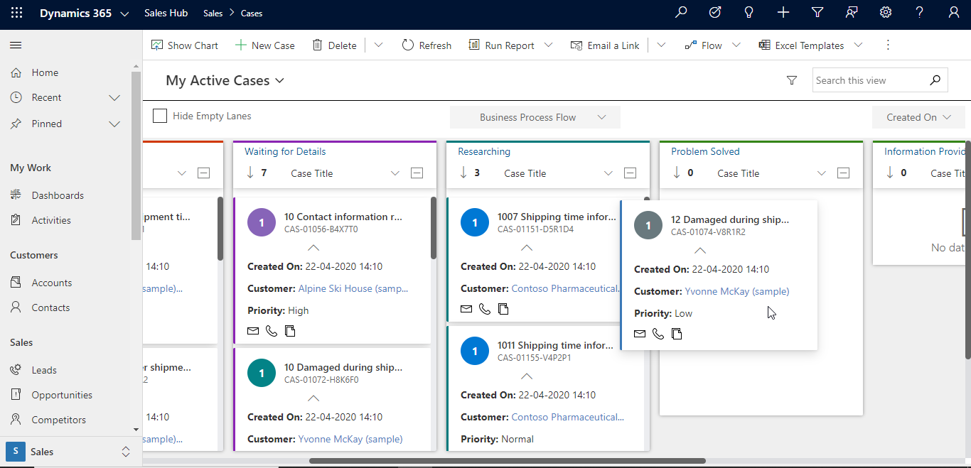 Kanban View to quickly drag and drop Dynamics 365 CRM records