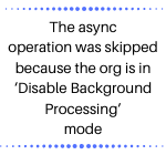 Disable Background Processing