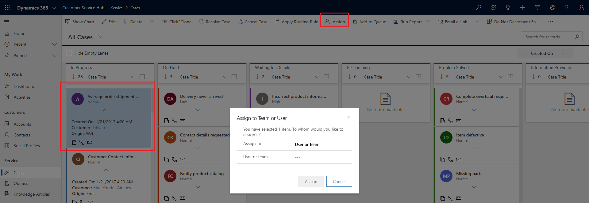 6Kanban View within Dynamics 365 CRM