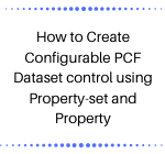 PCF Dataset Control