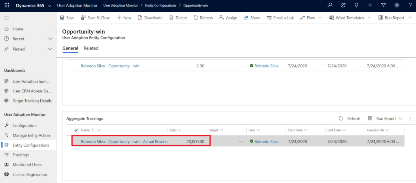 Tracking User Adoption within Dynamics 365 CRM