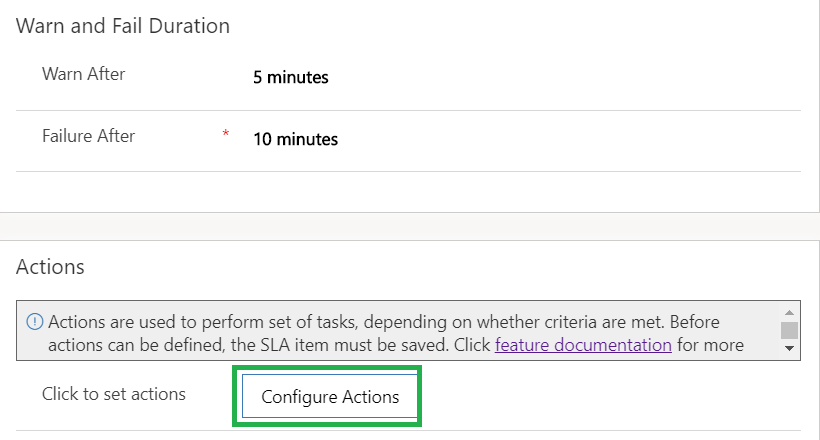 Use Power Automate in SLA to configure Actions