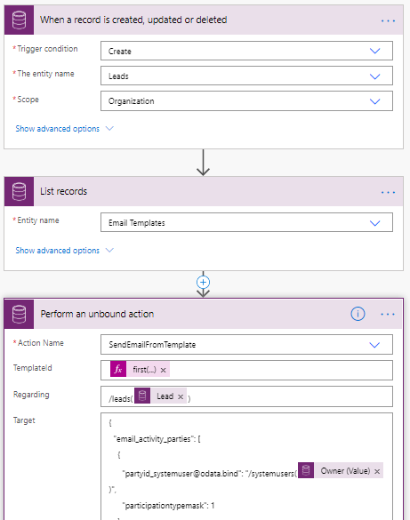 Send an email using the Email Template in Power Automate
