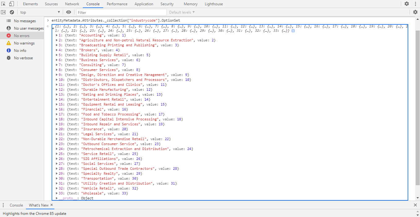 How to retrieve entity metadata using Xrm.Utility.getEntityMetadata