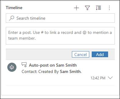 Link custom entity record with another entity using Timeline Post