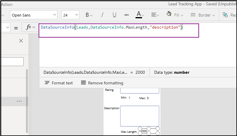 How to use DataSourceInfo in Canvas App