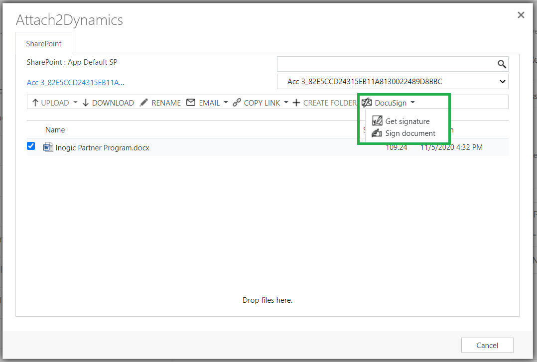 SharePoint Security Sync + DocuSign integration within Dynamics 365 CRM