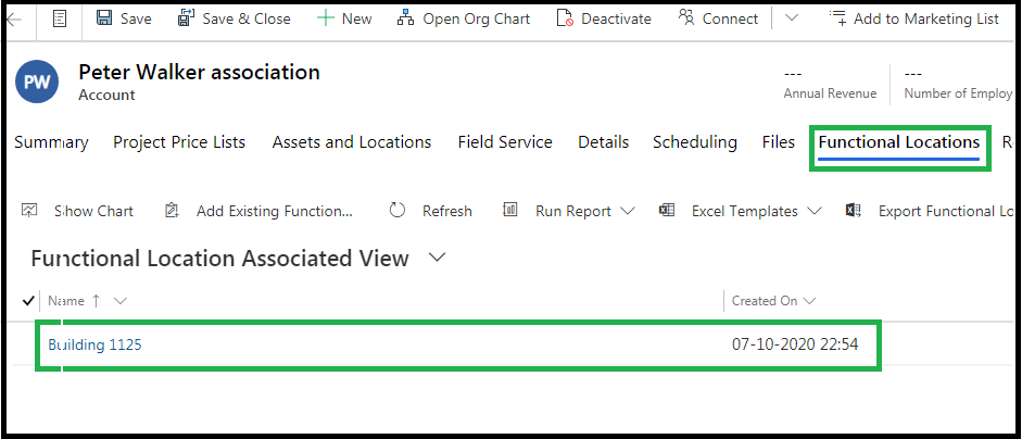 Use of Dynamics 365 CRM Field Service features - Functional Locations and Asset Hierarchy