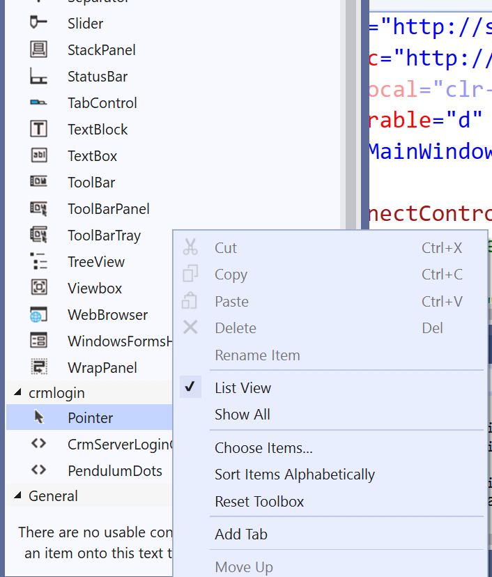 Using XRM Tooling Login Control in your WPF Applications
