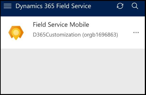 Field Service (Dynamics 365) Mobile App