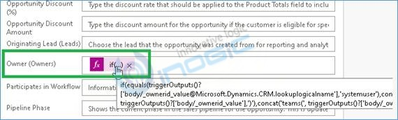 set Owner field dynamically using Power Automate CDS Connector